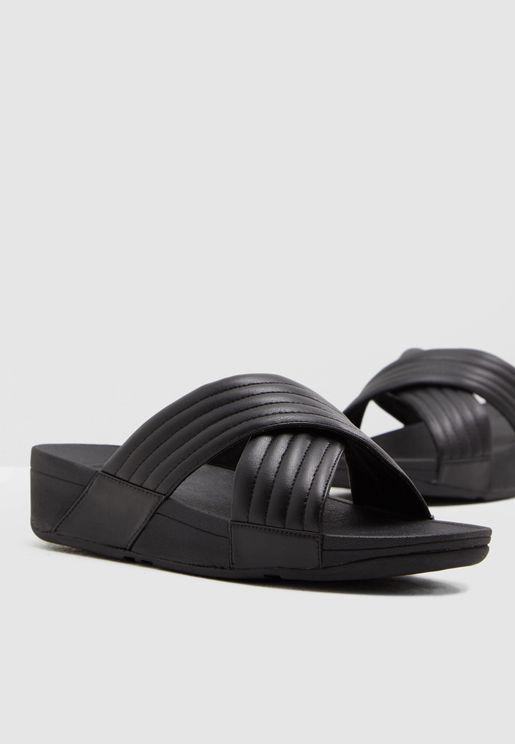 c2ed59aa898765 Lulu Padded Cross Sandal