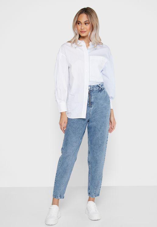 جينز بجيوب جانبية