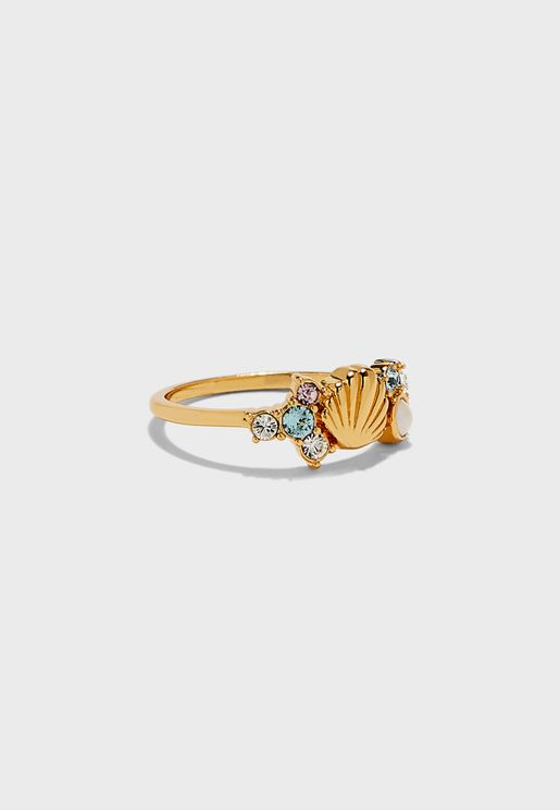 Under The Sea Sparkle Shell Ring (S-M-L)