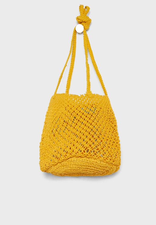 Braided Net Bucket Bag