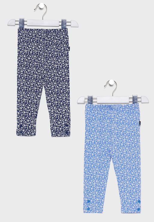 Kids 2 Pack Floral Leggings