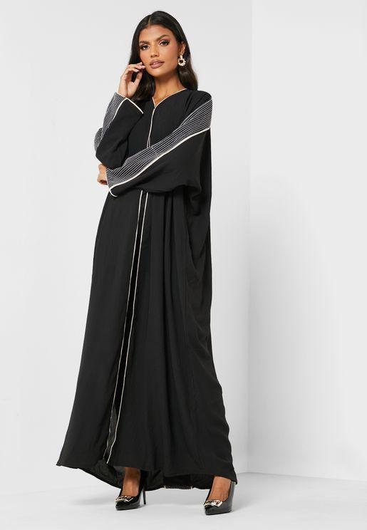 Embellished Sleeves Abaya
