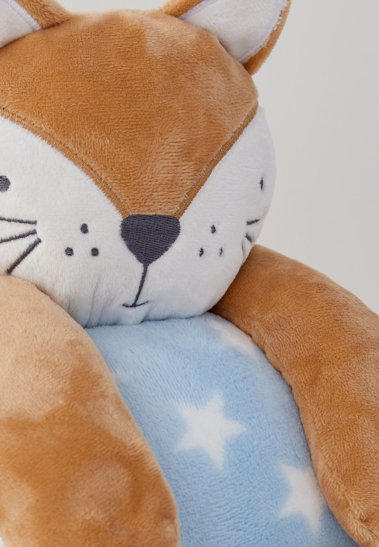 Fox Rolled Blanket And Toy Set