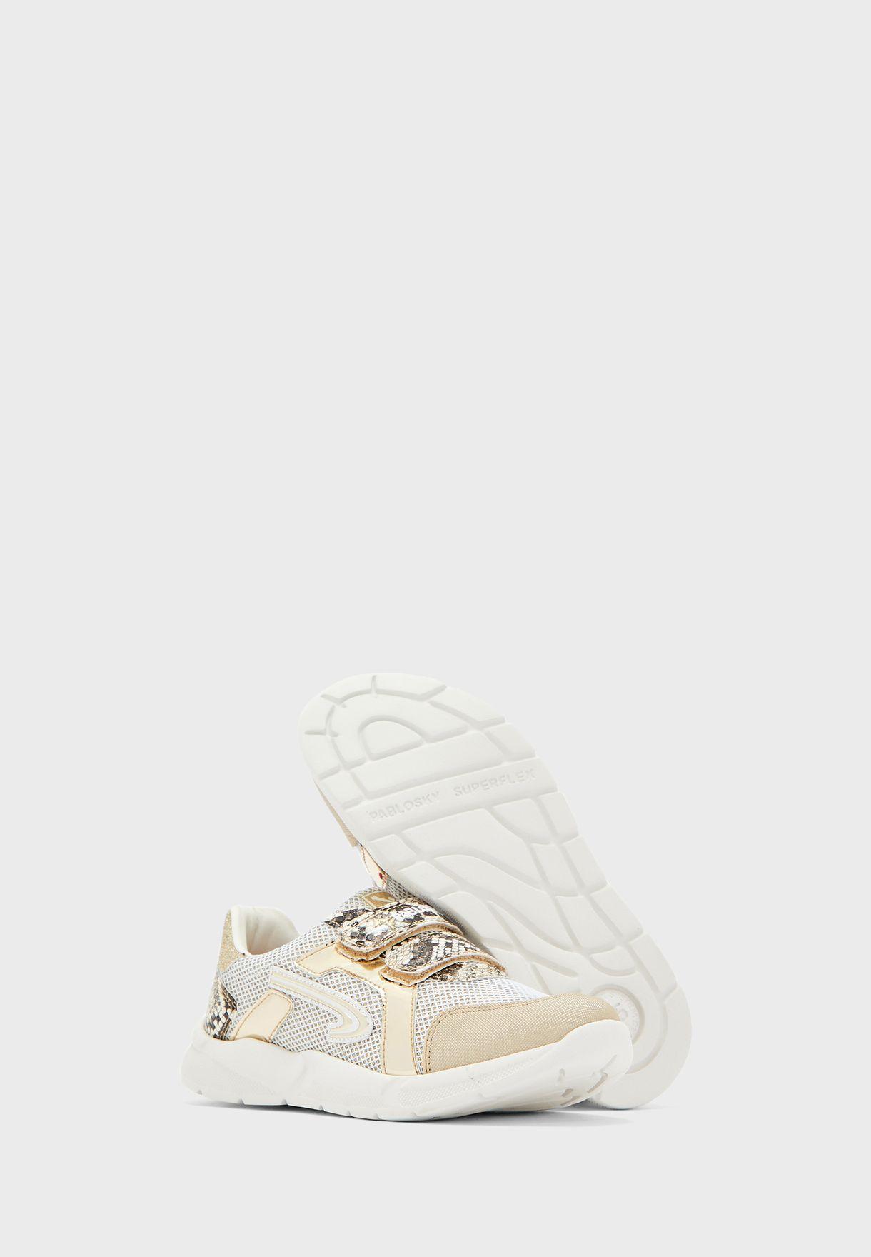 Youth Double Strap Glitter Sneaker