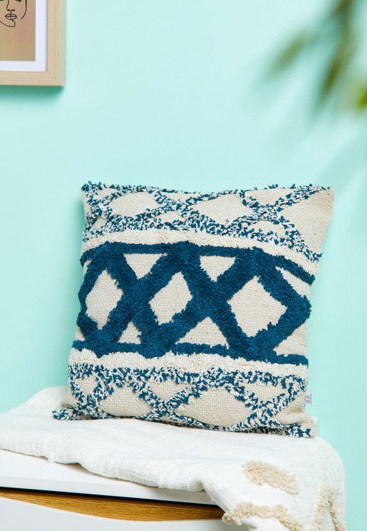 Blue Scandi Boho Cushion