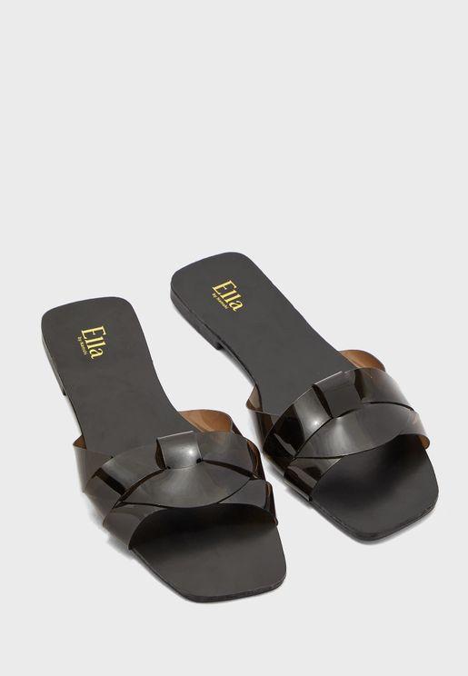 Woven Strap Flat Sandal