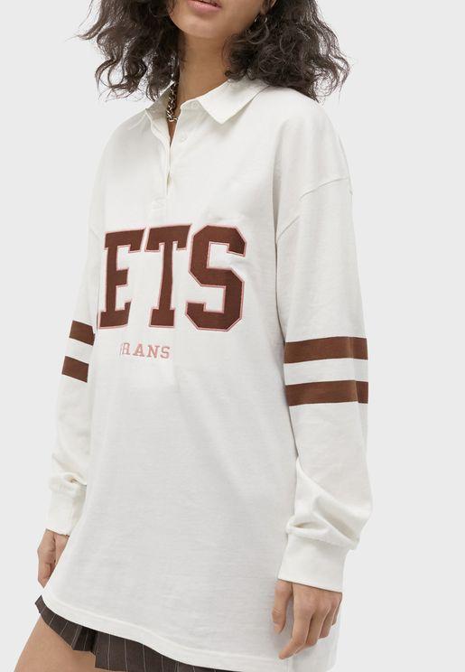 Basketball Graphic Jersey Sweatshirt