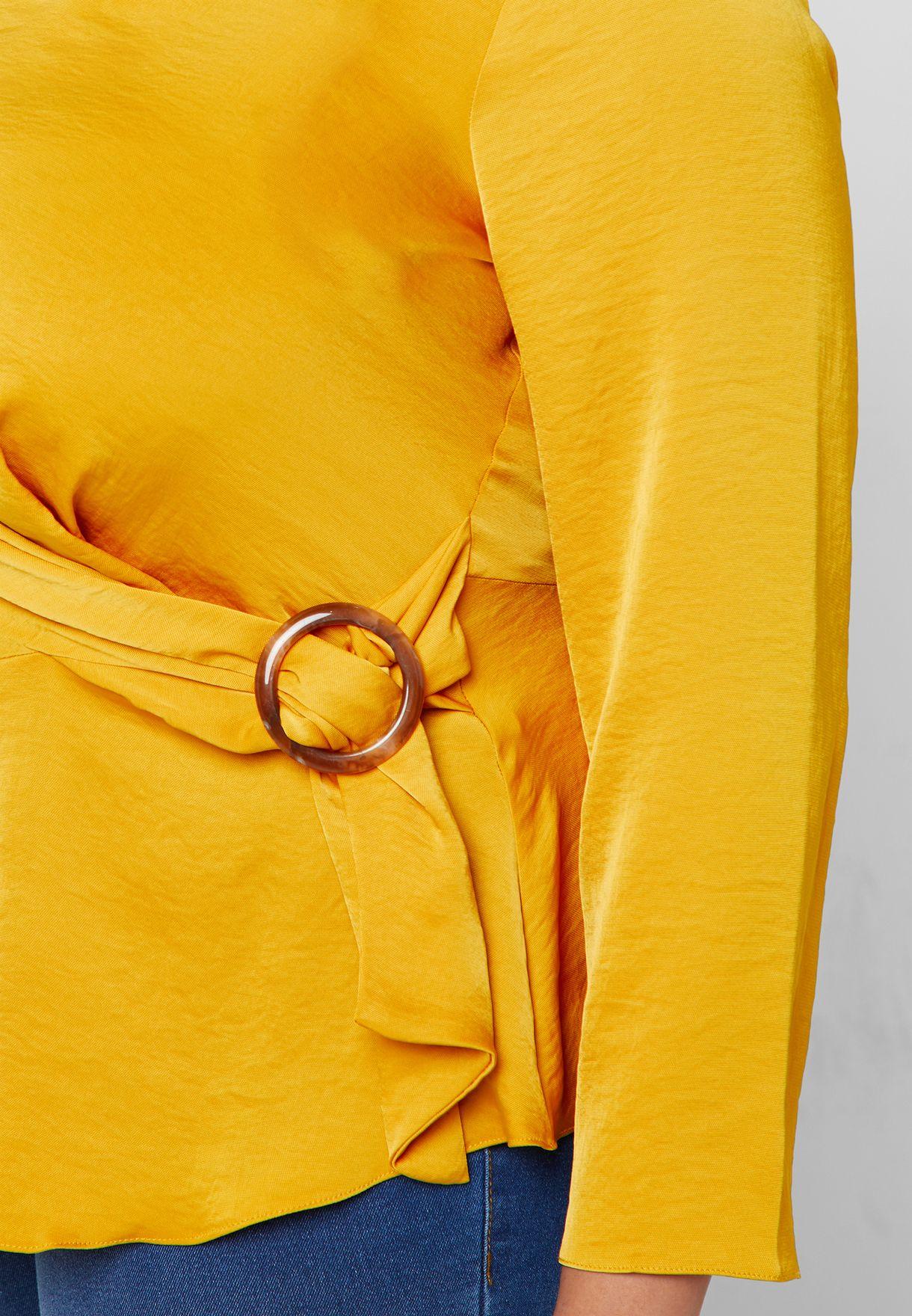 بلوزة باربطة جانبية