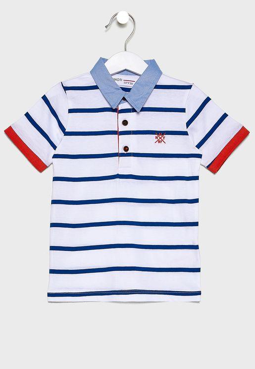 Little Striped Polo