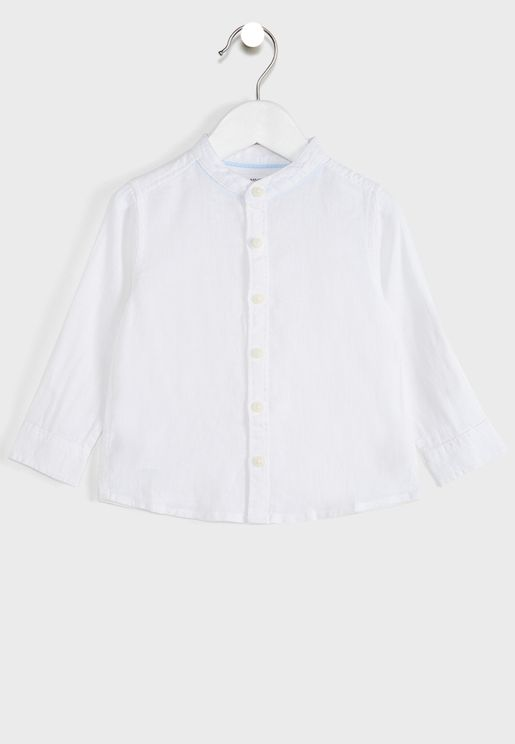 Infant Grandad Collar Shirt