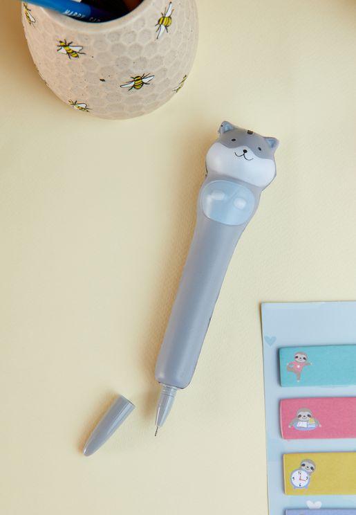 قلم حبر جاف بشكل قطة
