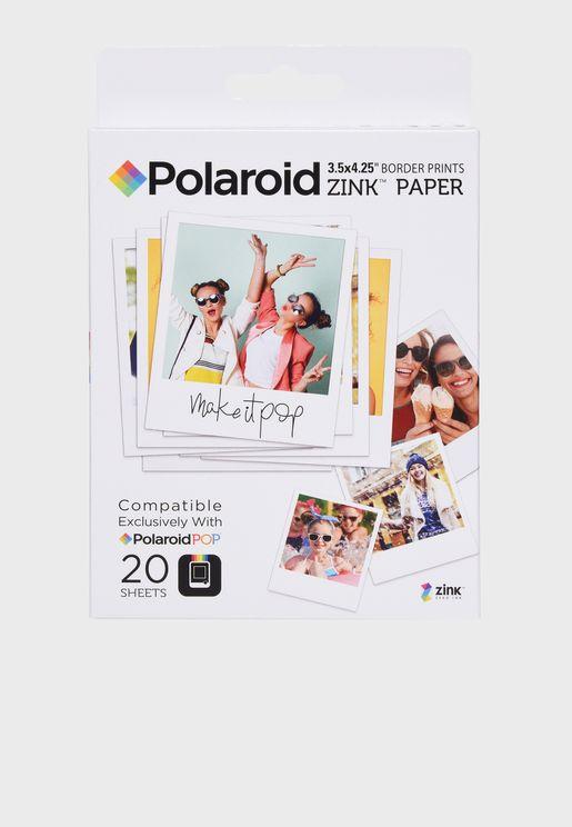 "POP Zink 3X4"" Media - 20 PKk"