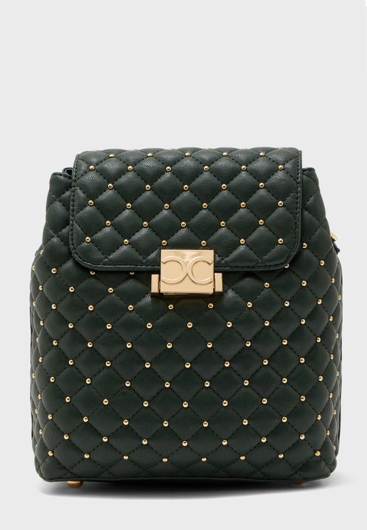 Embellished Flap Backpack