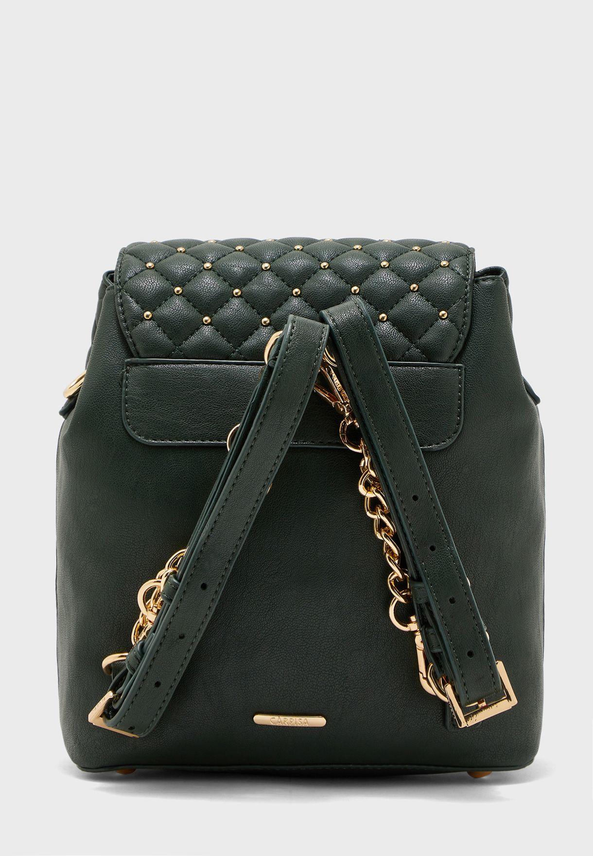 Embellished Flap Backpack