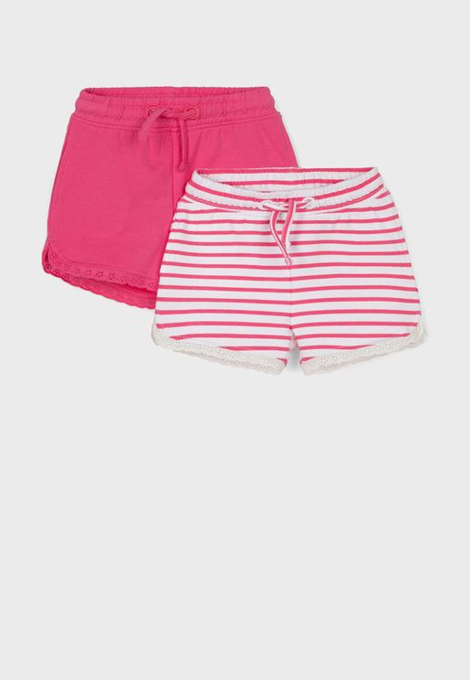 Infant 2 Pack Assorted Shorts
