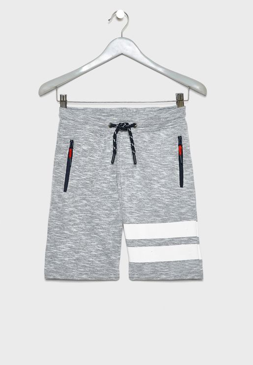 Teen Zip Detail Pocket Sweatshorts