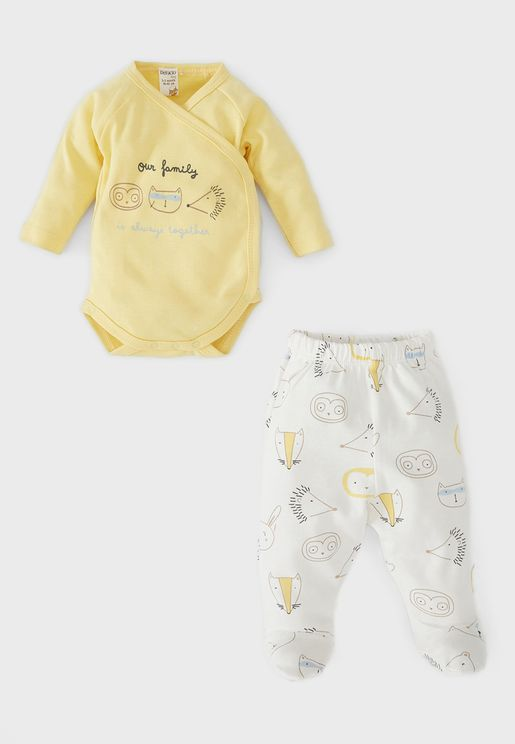Infant Graphic Bodysuit + Sweatpants Set
