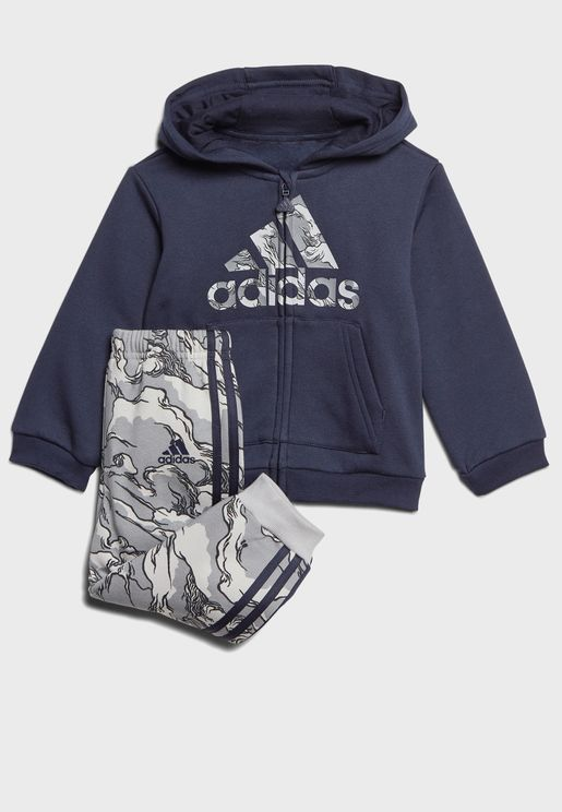 Infant Logo Fleece Hooded Tracksuit