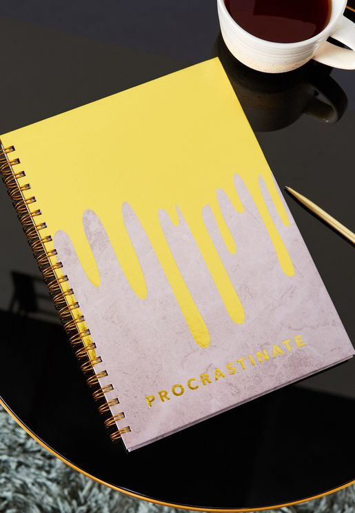 A4 Procrastinate Notebook