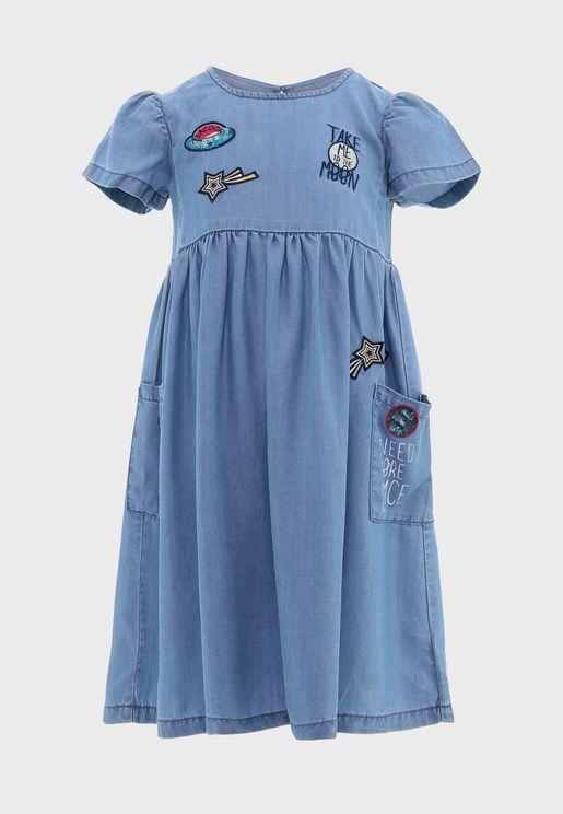 فستان مطرز للاطفال