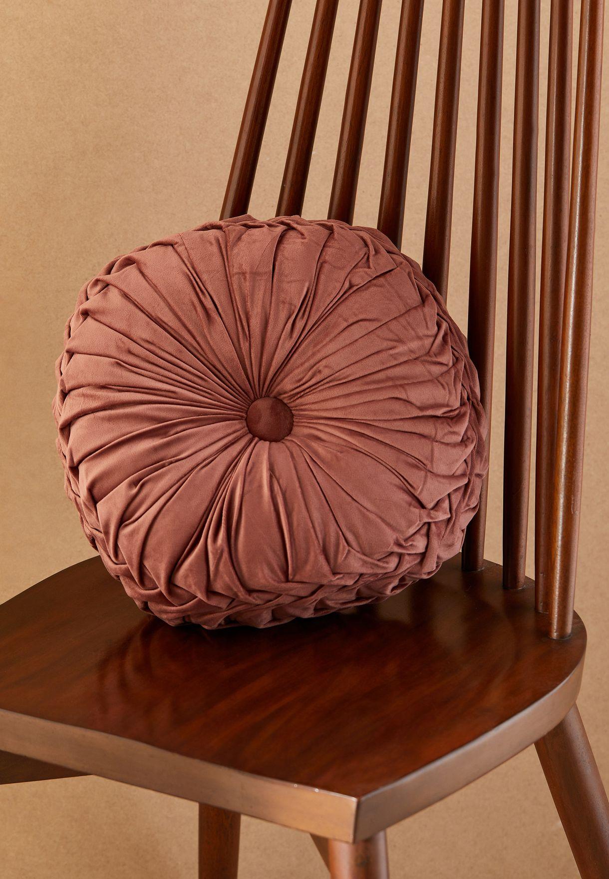 Velour Round Pink Cushion