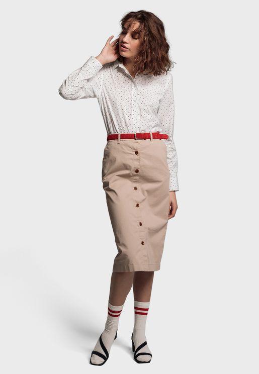 Polka Dot Tailored Shirt
