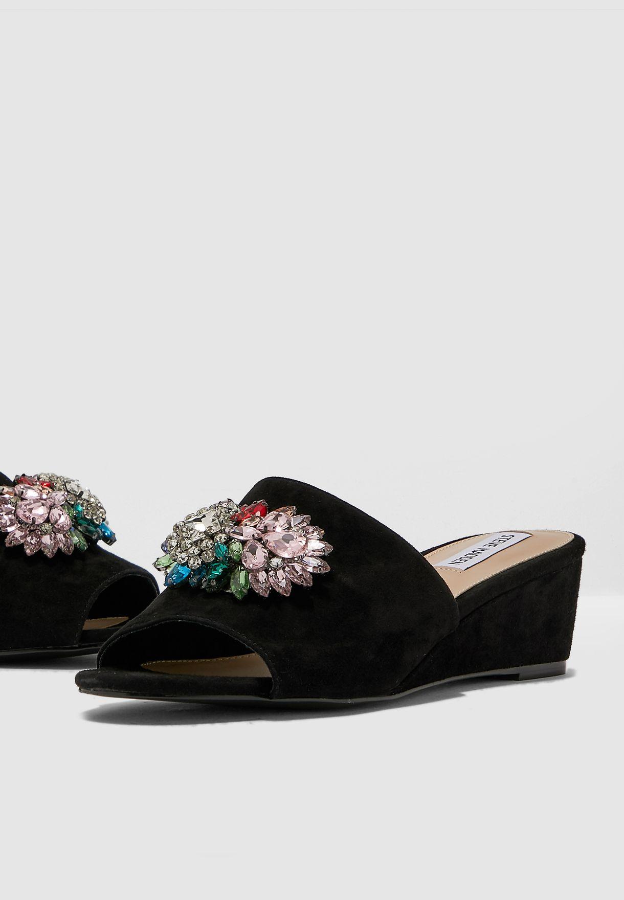 Lofty Wedge Sandal - Black