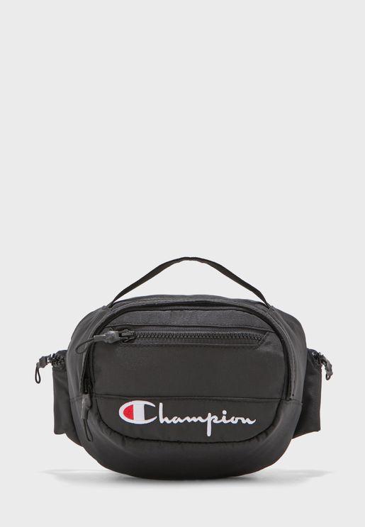 حقيبة خصر مزينة بشعار الماركة