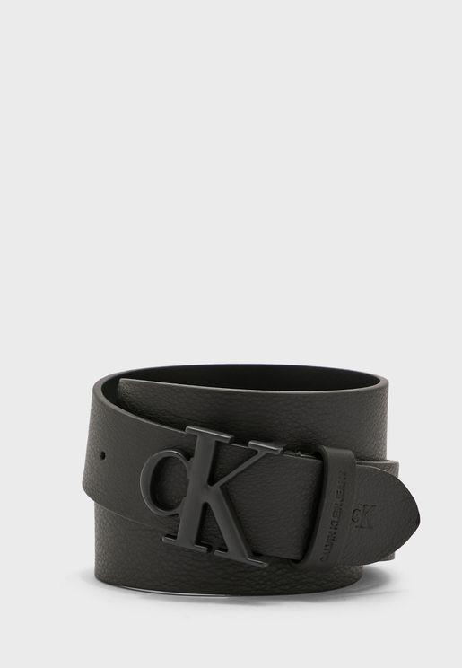 حزام كاجوال مزين بشعار الماركة