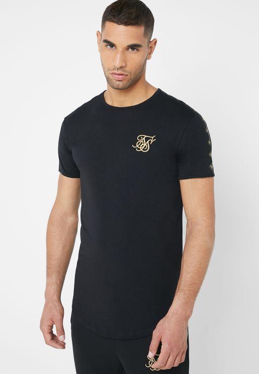 Lurex Gold Taped T-Shirt