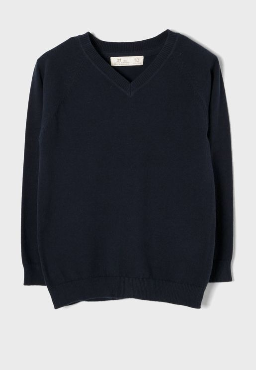 Kids V-Neck Sweater