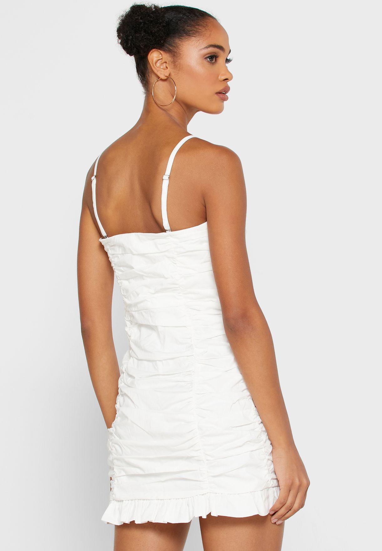 Tiered Hem Pleated Dress