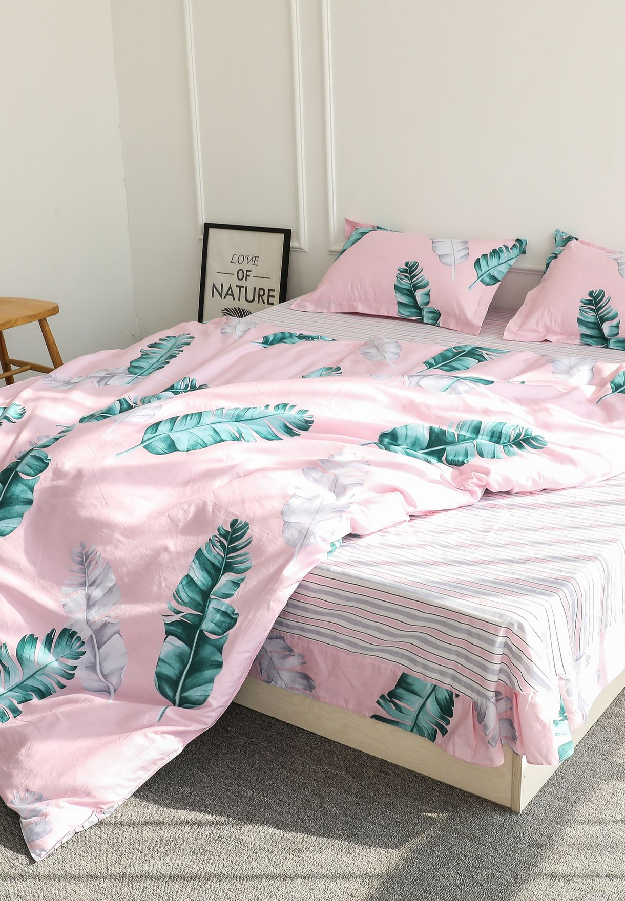 Palm Leaf Bedding Set - King 200 x 230cm