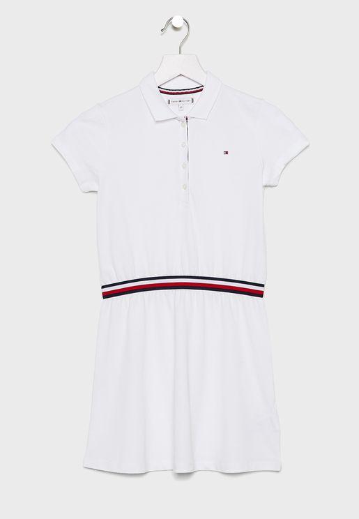 Teen Stripe Detail Polo Dress