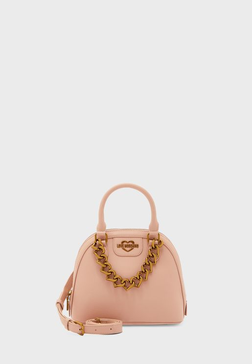 Top Handle Heart Detail Satchel