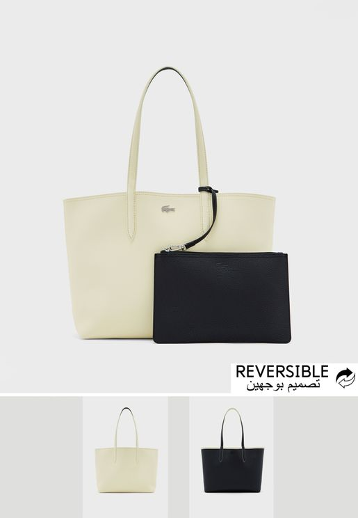 Reversible Bicolour Tote With Pouch