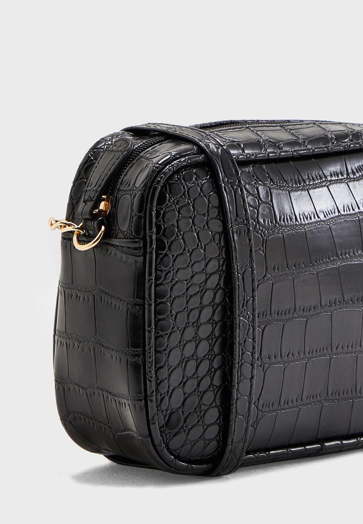 Camera Bag In Mock Croc
