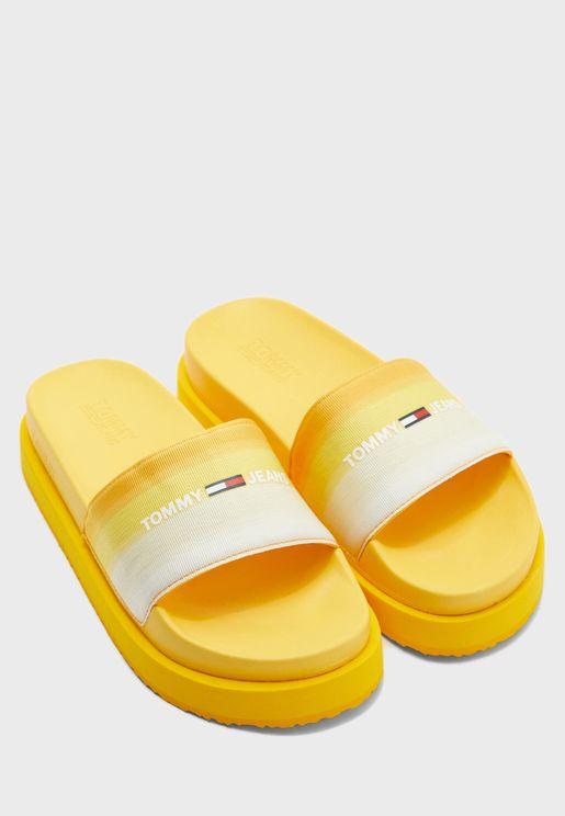Degrade Flatform Sandal