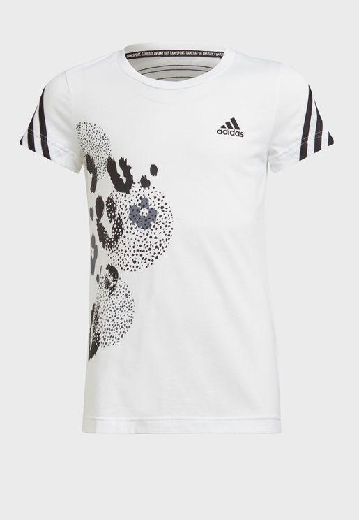 Youth Freelift 3 Stripe Graphic T-Shirt