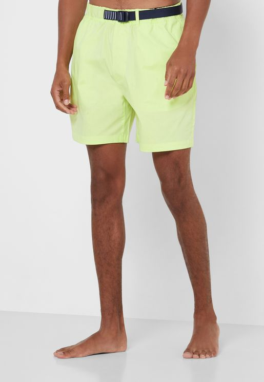 Belted Swim Shorts