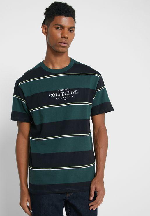 Bold Stripe Crew Neck T-Shirt