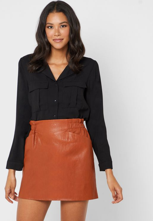 Double Front Pocket Shirt