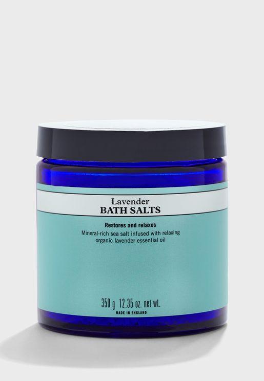 Lavender Bath Salts, Jar, 350g - 3601