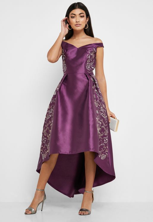 High Low Off Shoulder Dress