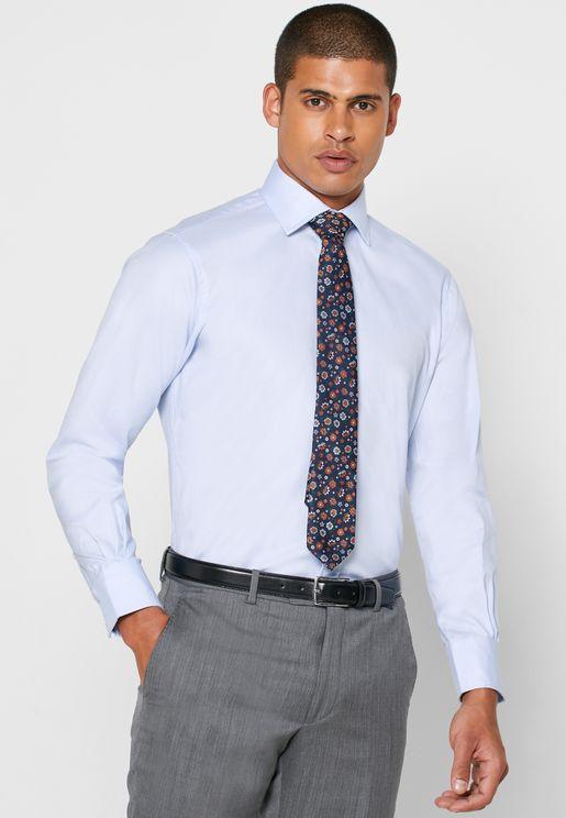 Oxford Button Cuff Slim Fit Shirt