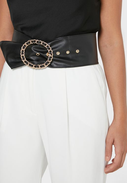 Patterned Buckle Waist Belt