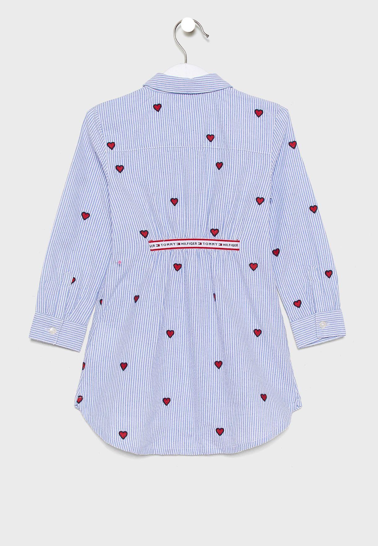 فستان بنمط قميص + سروال