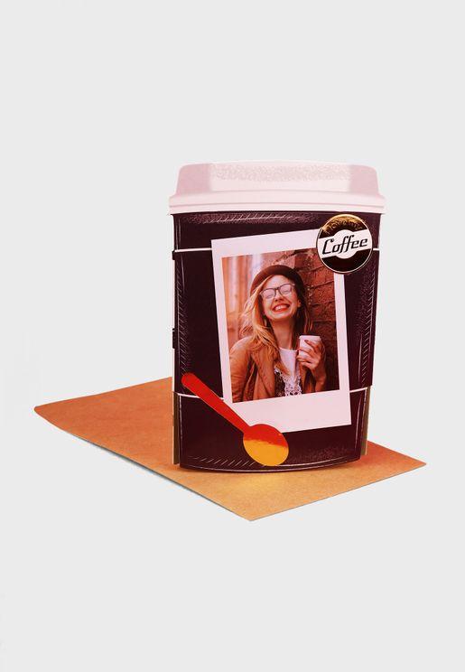Instax Mini Stand-Up Card Coff