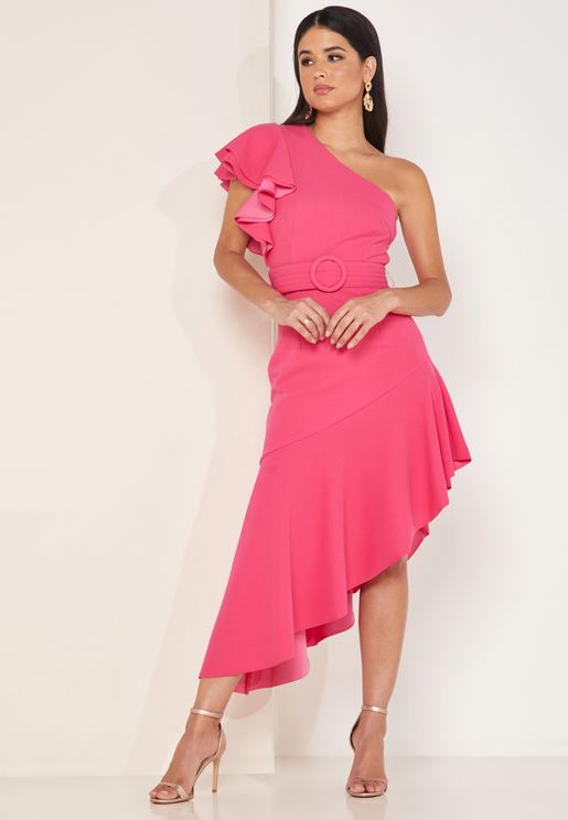 Finale Asymmetric One Shoulder Dress