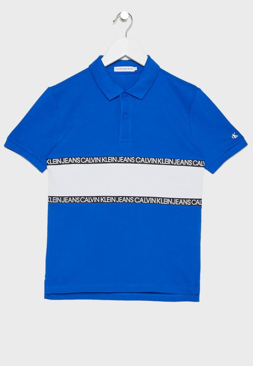 Kids Logo Printed Polo